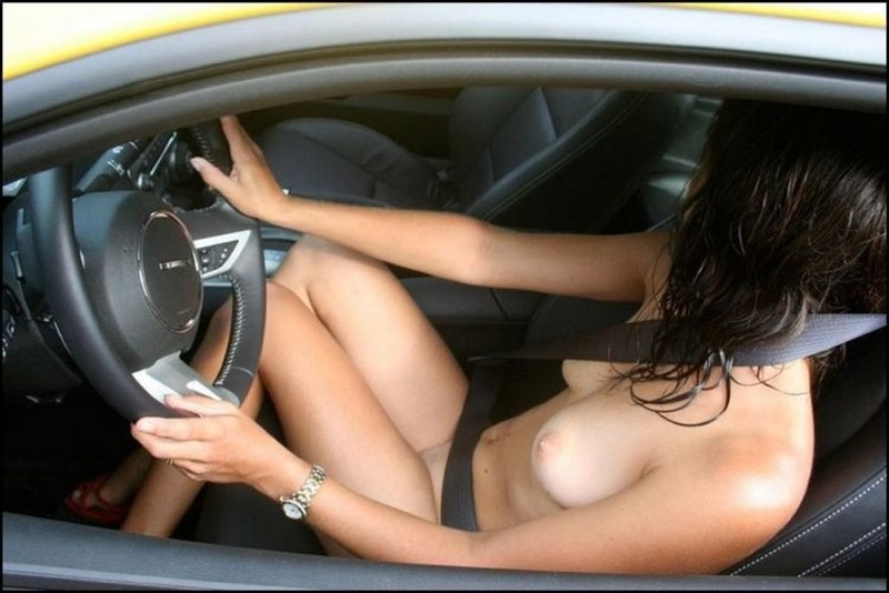 Think, woman driver car naked