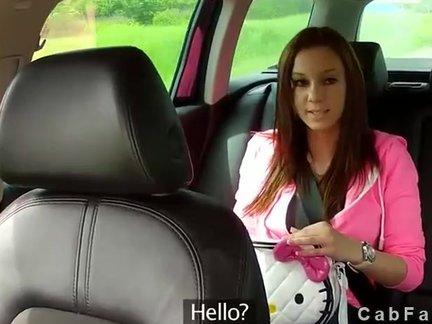 Porno im taxi